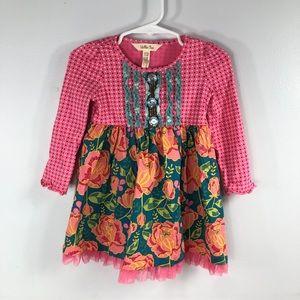 Matilda Jane Floral Long Sleeve Dress Baby 18/24M